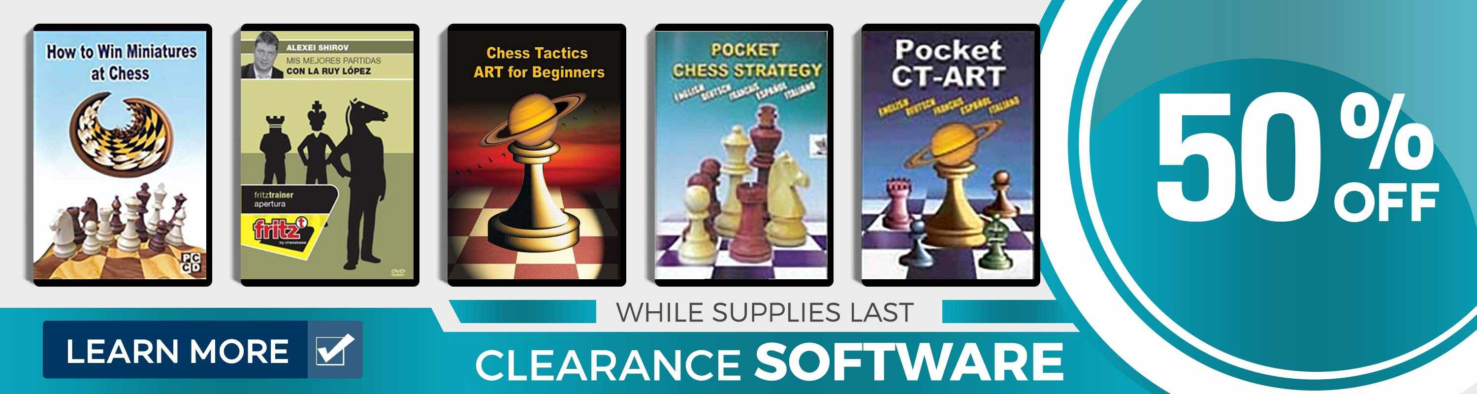 Clearance Software at US Chess Sales!