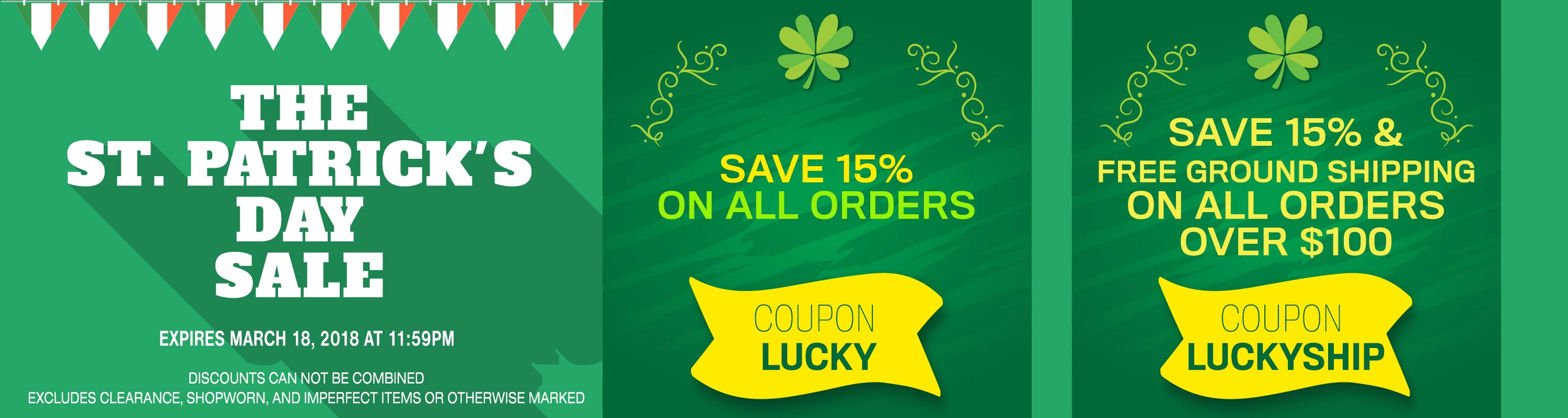 Save 15% Off of Your Next Order with the Coupon Code LUCKY