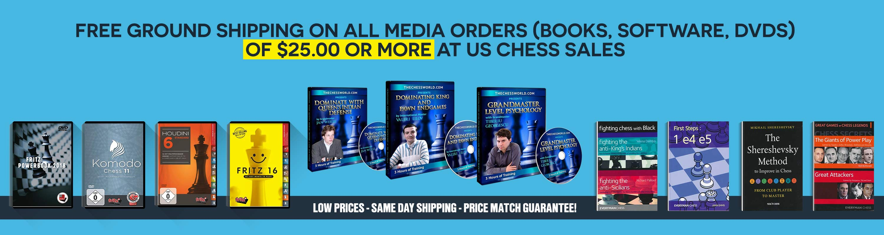 Our Best Selling Chess Books, Chess Software and DVD