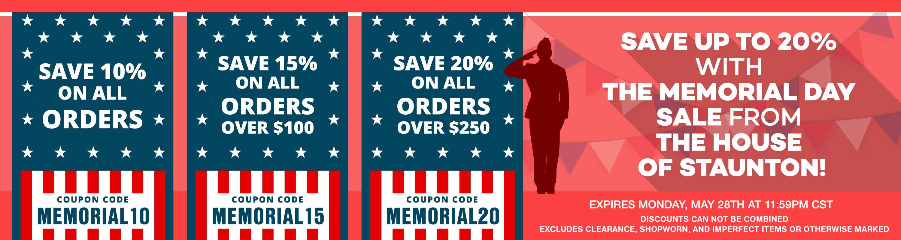 Save up to 20% Off of Your Next Order with the following coupon codes!