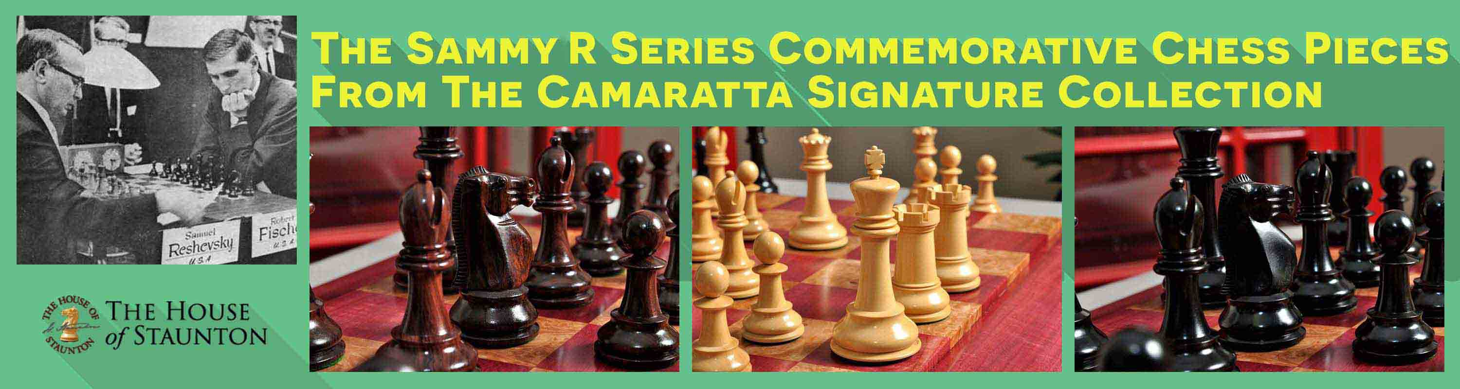 The Sammy R Series Commemorative Chess Pieces from the Camaratta Signature Collection