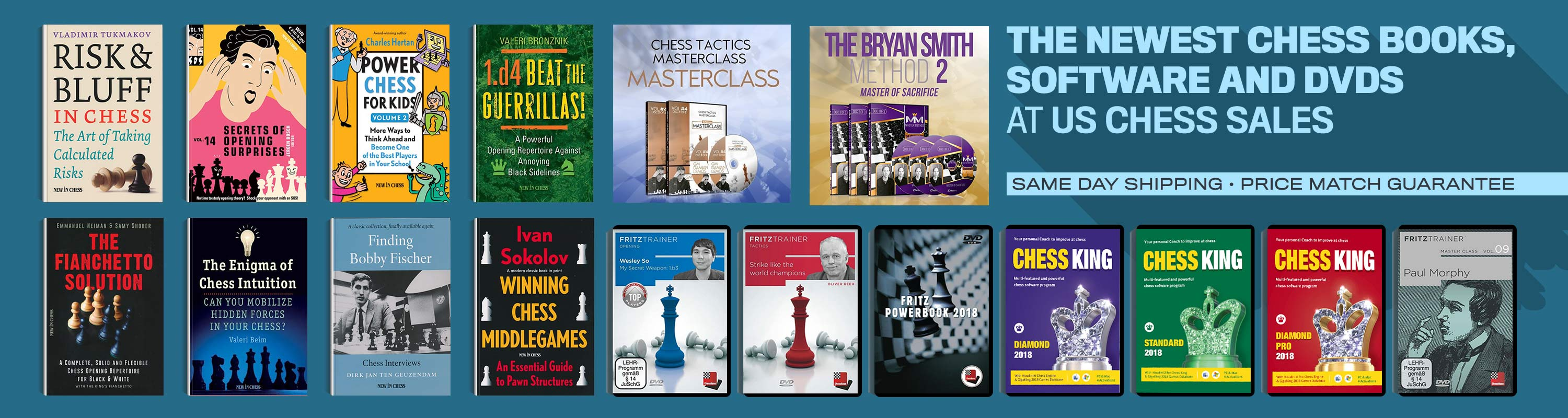 The Newest Chess Books, Software, and DVDs at US Chess Sales