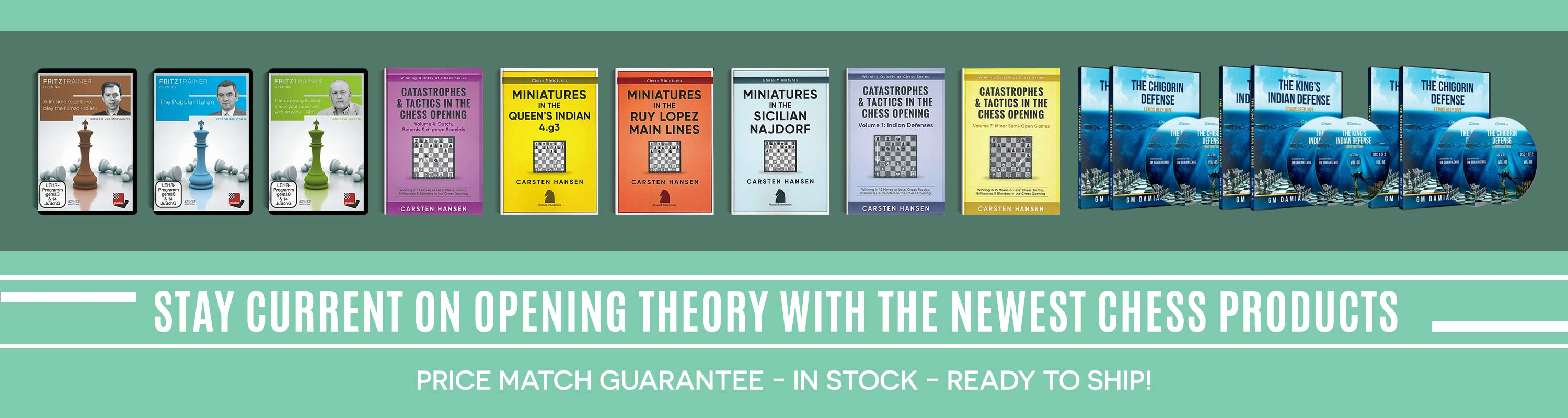 Stay current on Opening Theory with the newest Chess Products!