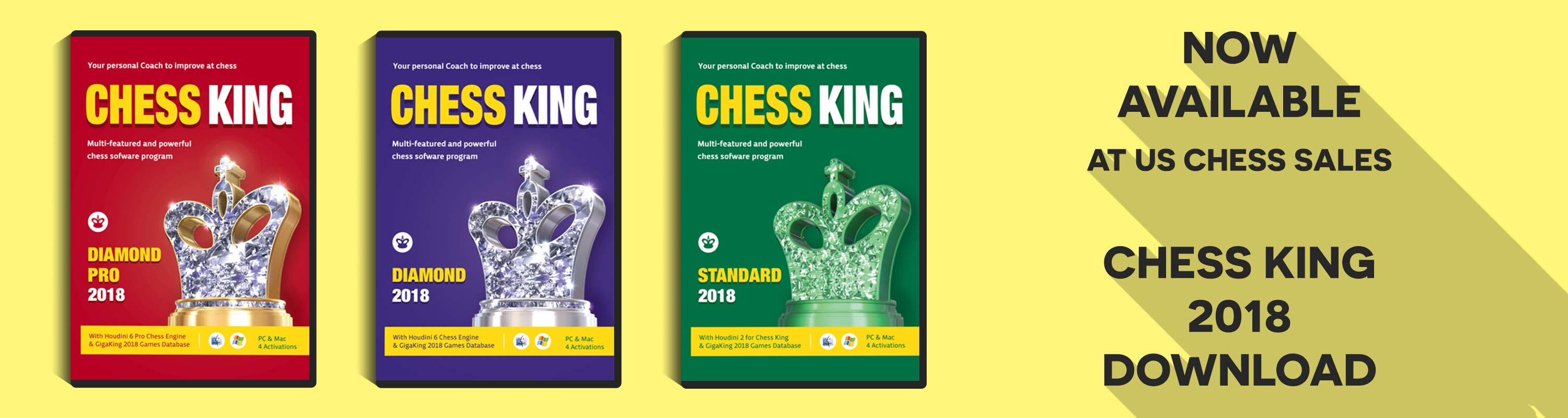 Now Available at US Chess Sales: Chess King 2018 Download!