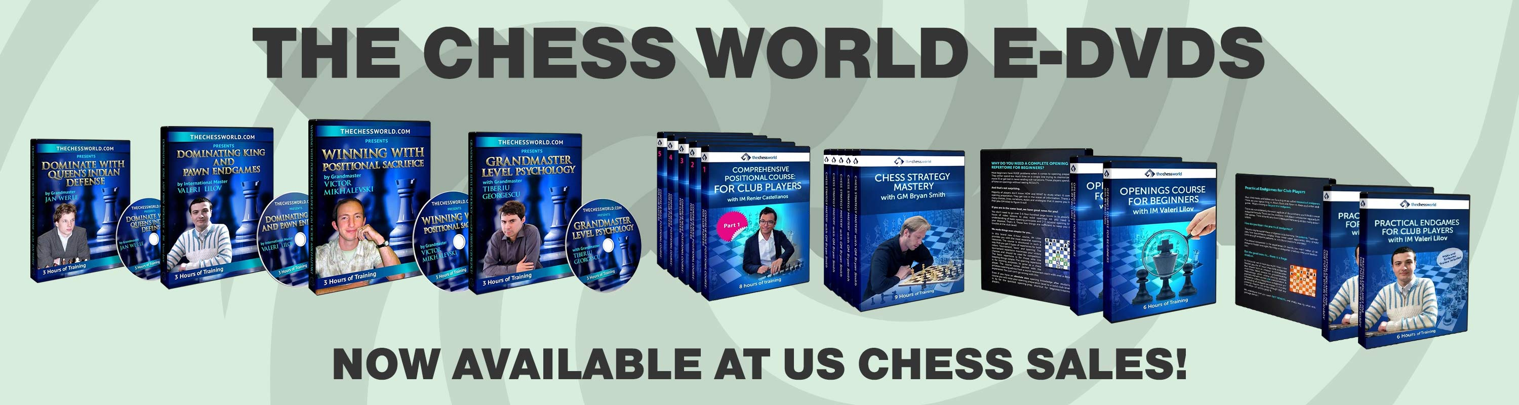 The Chess World E-DVDs Now Available at US Chess Sales!