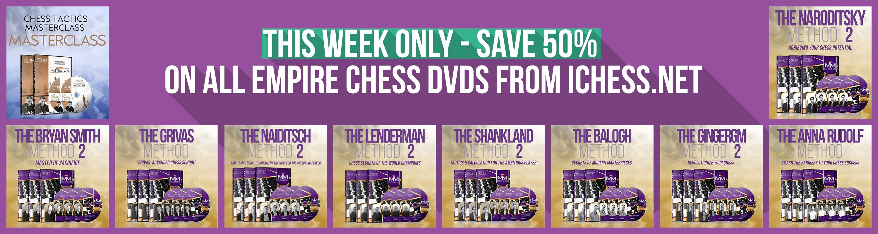This Week Only: Save 50% on all Empire Chess DVDs from iChess.net