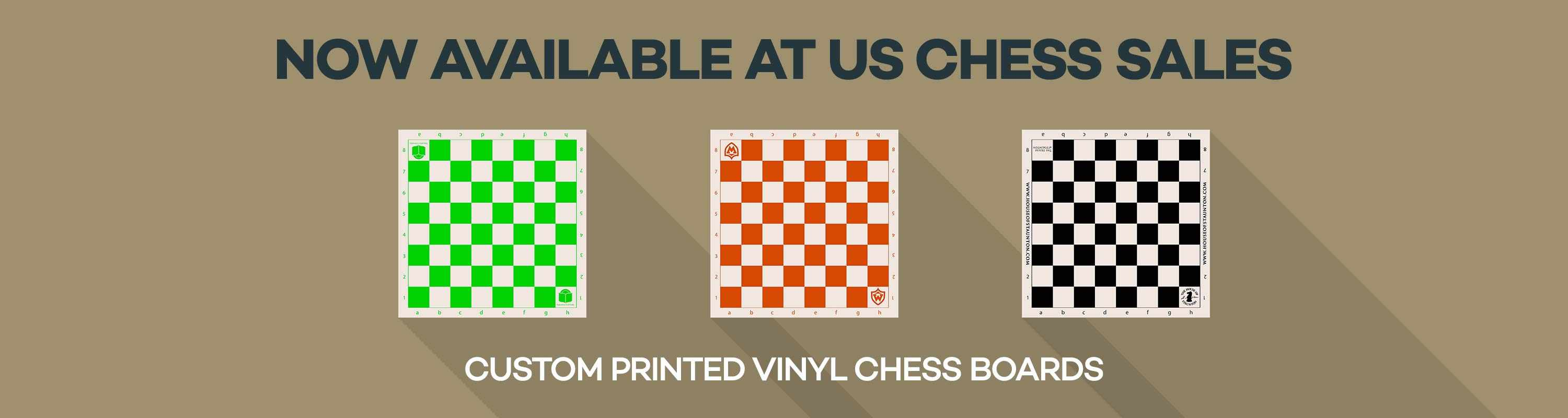 Custom Printed Vinyl Score Boards at US Chess Sales