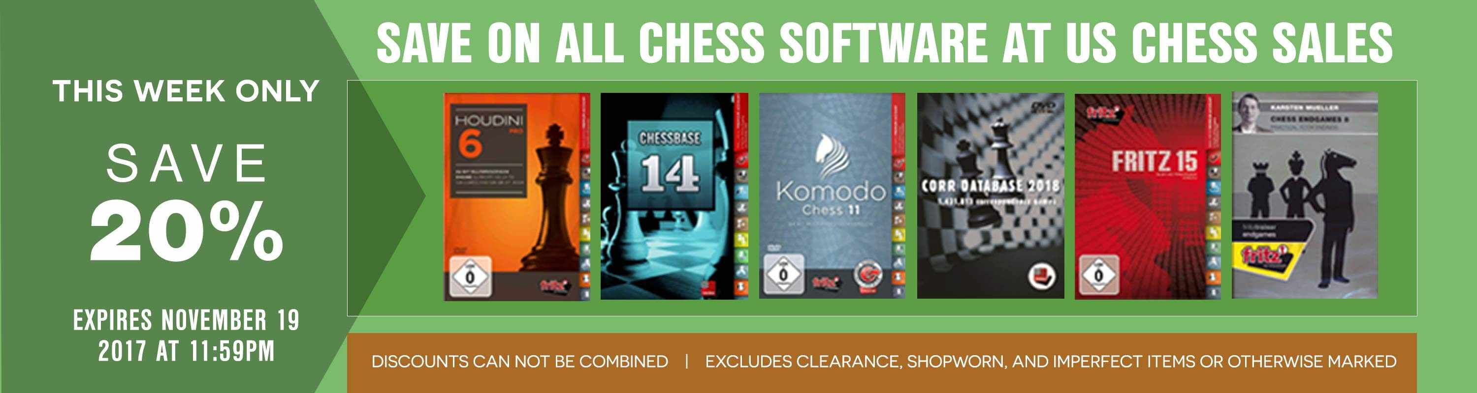 This Week Only: Save 20% on All Chess Software at US Chess Sales!