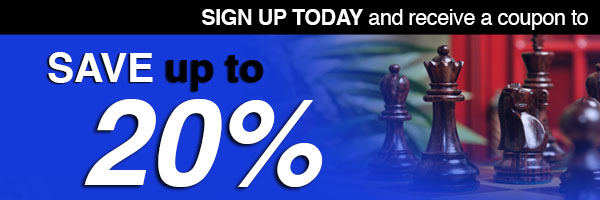 Sign up today and immediately receive a coupon for your next order from USCF Sales