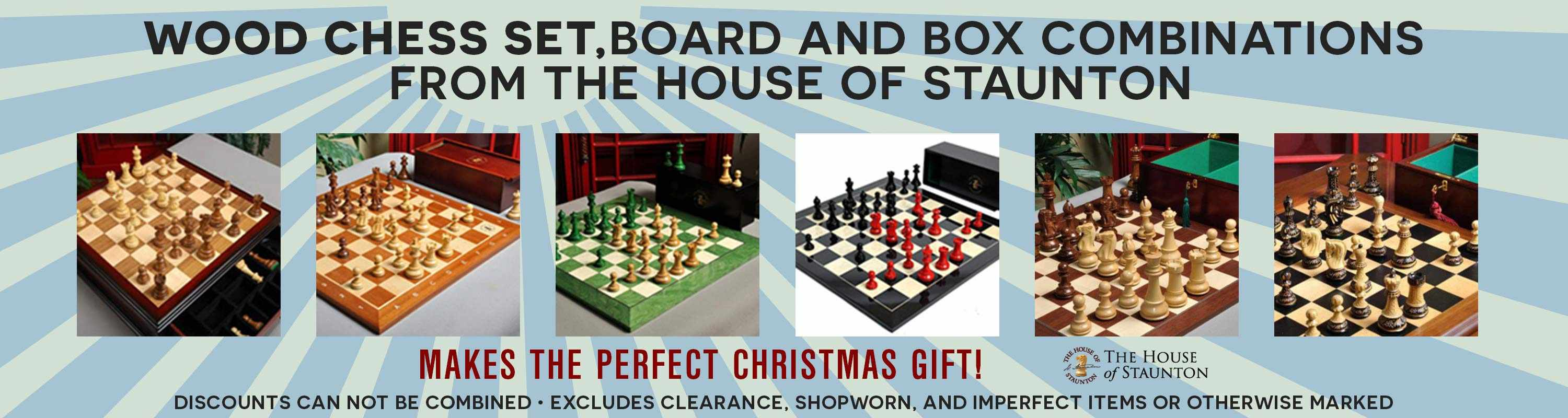 wiid chess set, board and box combinations from The House of Staunton!