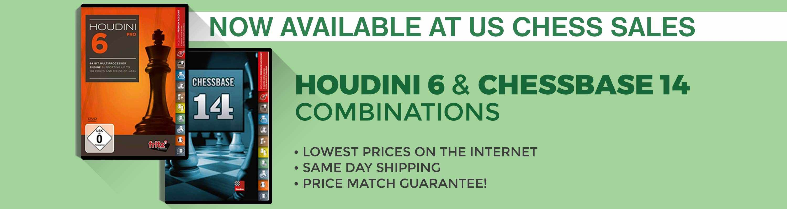 Houdini 6 & Chessbase 14 Combinations Now Available at US Chess Sales!