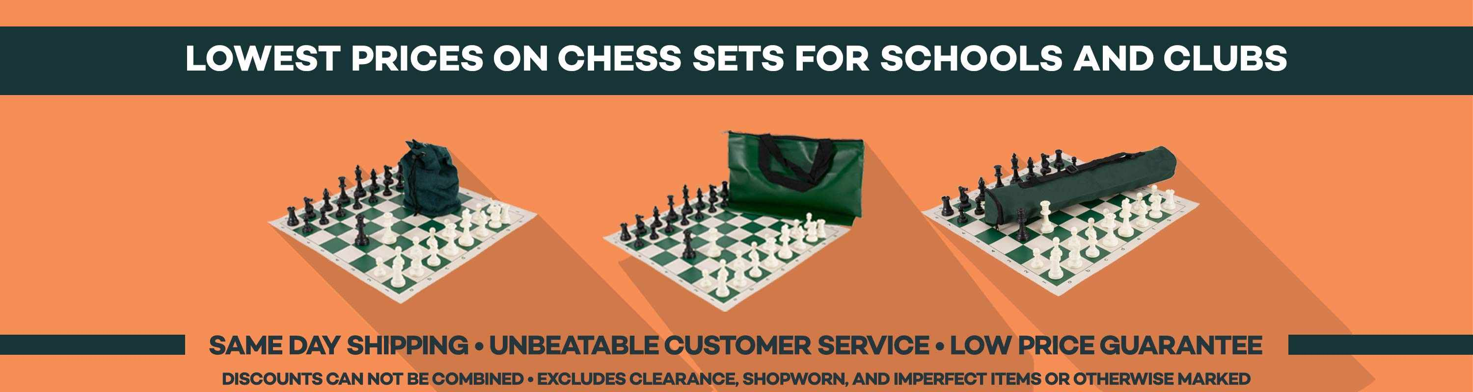 Lowest Prices on Chess Sets for Schools and Clubs