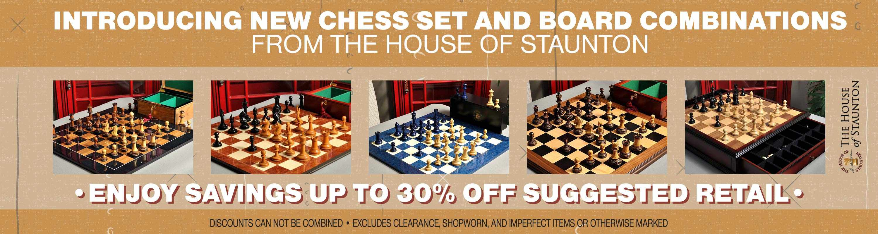 New Chess Set and Board Combinations from the House of Staunton