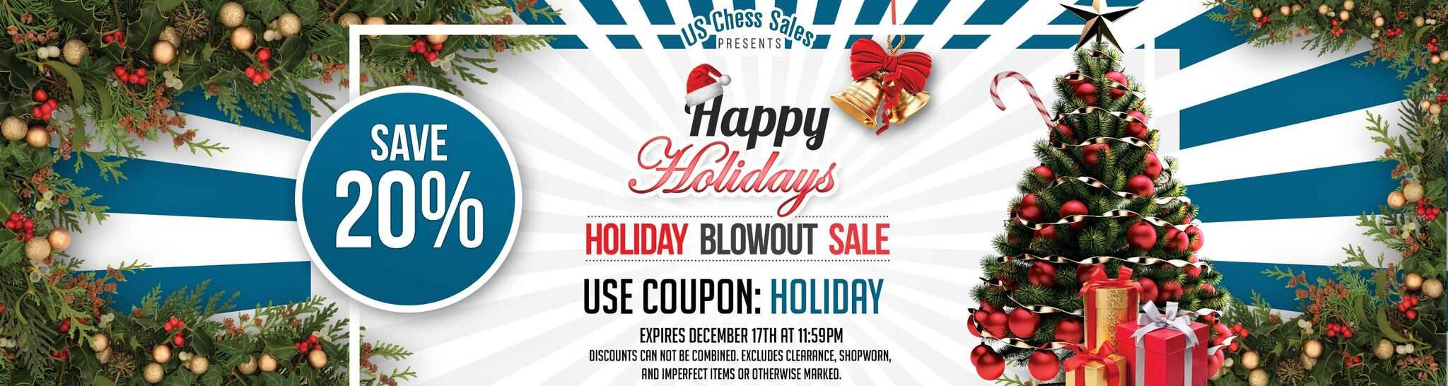 Save 20% on All Orders with coupon code CHESSMAS
